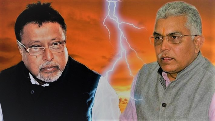 Dilip Ghosh - mUkul Roy - Clash