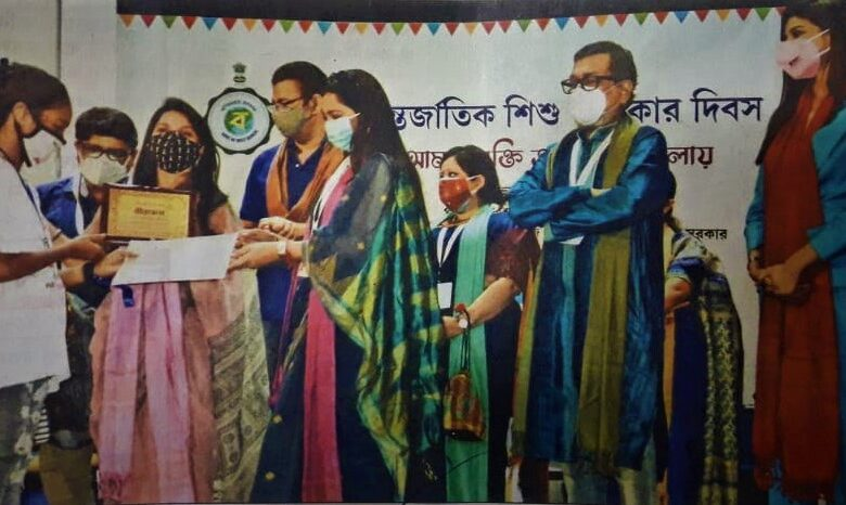 On the occasion of International Child Rights Day, 'Birpurush' and 'Birangana' honors were conferred in South 24 Parganas district yesterday_sangbad bhaskar